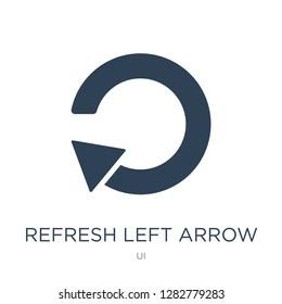 refresh left arrow icon vector on white background, refresh left arrow trendy filled icons from UI collection, refresh left arrow vector illustration