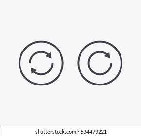Refresh Line Icon. Editable Stroke.