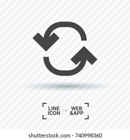 Refresh minimal icon. Arrow line vector icon for websites and mobile minimalistic flat design.