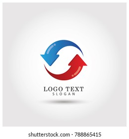 Refresh & Recycle Logo .Symbol & Icon Vector Template.