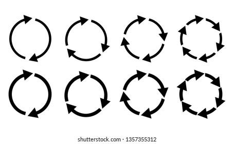 Refresh reload rotation loop sign. Vector illustration