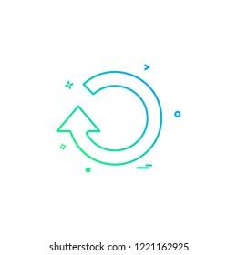 refresh restart icon vector design