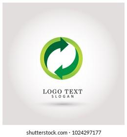 Refresh & Restart Logo. Symbol & Icon Vector Template.