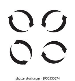 refresh set icon vector illustration sign