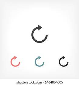 refresh Vector icon . Lorem Ipsum Illustration design