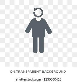refreshed human icon. Trendy flat vector refreshed human icon on transparent background from Feelings collection. High quality filled refreshed human symbol use for web and mobile