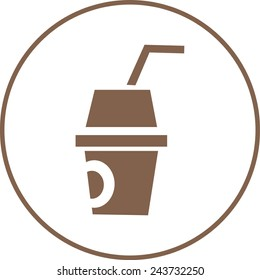 refreshment icon. vector illustration