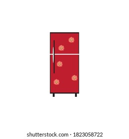refridgerator vector design ilustration icon logo templat