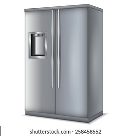 Refrigerator with 2 doors - vector drawing isolated