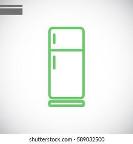 Refrigerator Icon Flat.