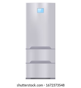 Refrigerator. Vector 3d illustration isolated on white background