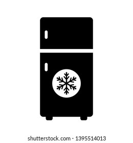 Refrigerator vector icon isolated on white background
