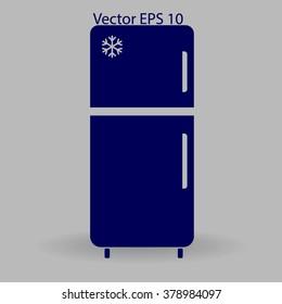 refrigerator vector illustration