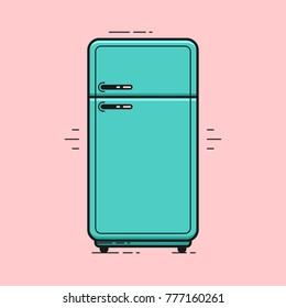 Refrigerator. Vector illustration.