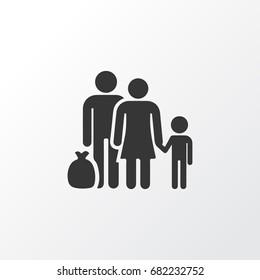 Refugee Icon Symbol. Premium Quality Isolated Fugitive Refugee Icon Element In Trendy Style.