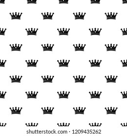 Regal crown pattern vector seamless repeating for any web design