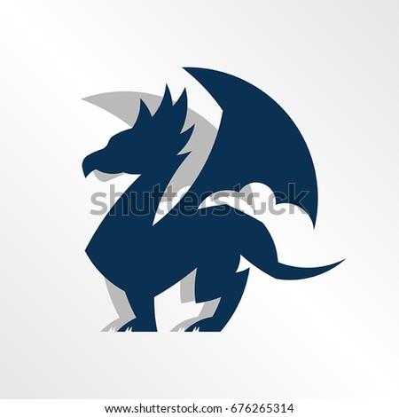 Regal Illustration Dragon Perfect Sports Team Stock Vector Royalty
