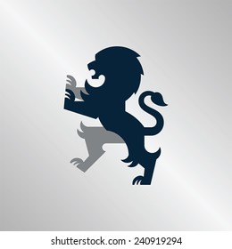 Regal illustration of a lion. Perfect for sports team logos or corporate identity.