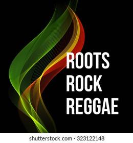 Reggae color wave poster design. Vector illustration EPS 10