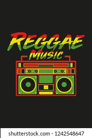 reggae jamaica boombox vintage records music distressed