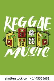reggae jamaica sound system speakers rasta roots music lion irie