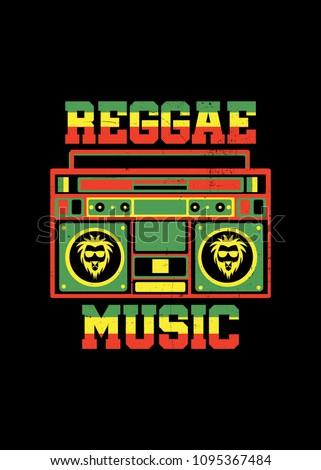reggae music jamaica boombox