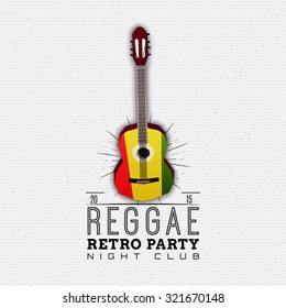Reggae party insignia  and labels can be used for design, invitations, flyers, banners Site