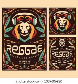 reggae rastafari music poster illustration