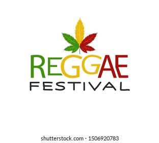 Reggae Vector design .Vector badges for reggae festival. Vintage music labels with marijuana leaf.