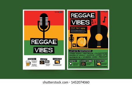 Reggae Vibes Event Poster Design