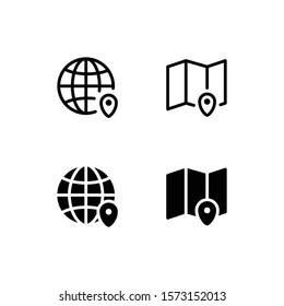 Region Icon Logo Vector Symbol. Geography Icon