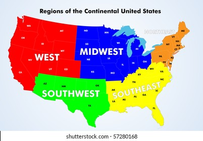 United States Map Region Images, Stock Photos & Vectors ...