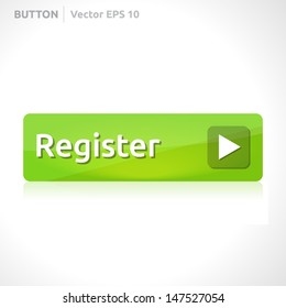 Register button template | vector design eps | business banner with symbol icon | website element | web green
