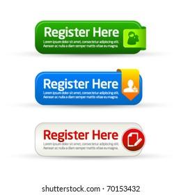 Register here modern button templates