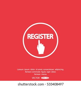 Register icon. Internet button