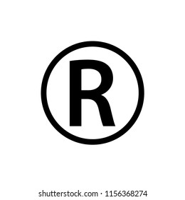 Register icon symbol ,trademark logo template