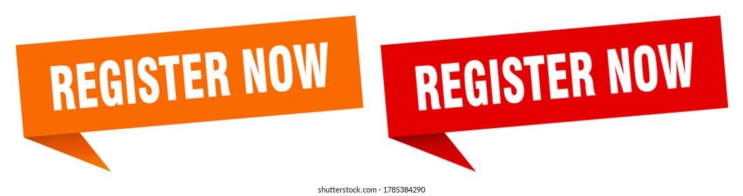 register now banner. register now sign