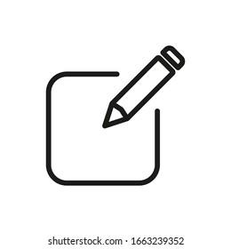 Register Outline Icon Vector Illustration