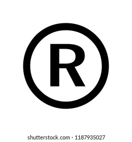 Register trademark symbol icon vector