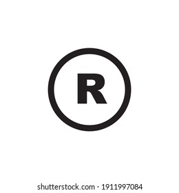 registered icon symbol sign vector
