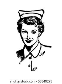 Registered Nurse - Retro Clip Art