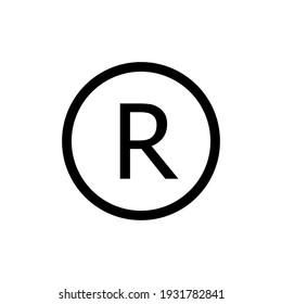 registered trade mark icon  vector eps 10