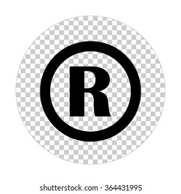 Registered Trademark  - black vector icon