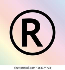 Registered Trademark  - black vector icon