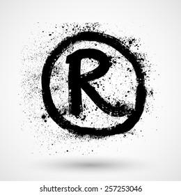 Registered Trademark - grunge icon