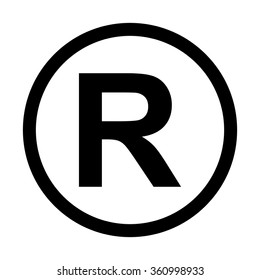 Registered Trademark icon. Isolated on white background