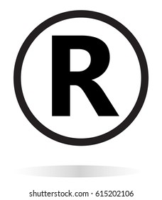 registered trademark icon on white background.