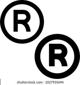 registered trademark icon vector art illustration