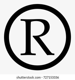 Registered trademark sign. Registered trademark icon vector eps10.