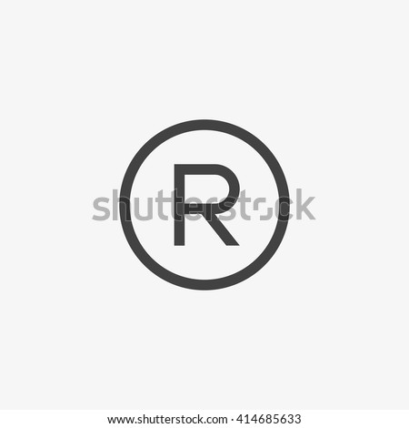 Registered Trademark Symbol Isolated On Grey Stock Vector Royalty